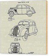 Automobile 1935 Patent Art Wood Print