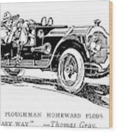 Automobile Cartoon, 1914 Wood Print