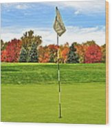 Autumn Golf Wood Print