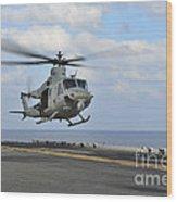 Aviation Boatswains Mate Directs Wood Print