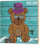 Baby Bear Collection Wood Print