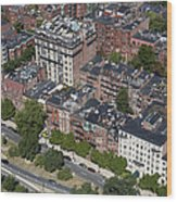 Back Bay District, Boston Wood Print