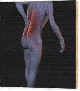 Back Pain Wood Print