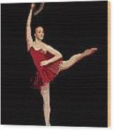 Ballerina Warhol Style Wood Print
