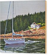Bass Harbor Light Wood Print by Karol Wyckoff