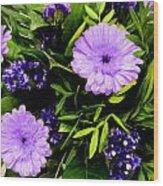 Beauty In The Garden Wood Print