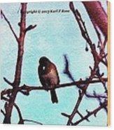 Bird In Tree Wood Print