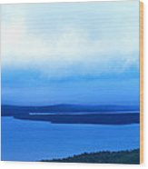 Bird's-eye View From Cadillac Mountain Acadia National Park Wood Print