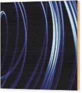 Blue Lines  Wood Print