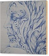 Blue Wood Print by Moshfegh Rakhsha