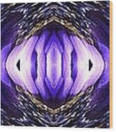 Blue Poppy Fish Abstract Wood Print