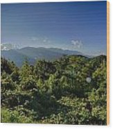 Blue Ridge Parkway National Park Sunset Scenic Mountains Summer  Wood Print