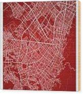Bogota Street Map - Bogota Colombia Road Map Art On Colored Back Wood Print