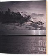 4 Bolts Over Captiva Island Wood Print