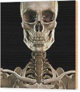 Bones Of The Head And Upper Thorax Wood Print
