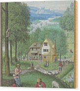 Book Of Hours Wood Print