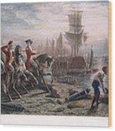 Boston: Evacuation, 1776 Wood Print