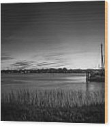Bridge Of Lions St Augustine Florida Painted Bw Wood Print