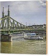 Budapest Bridge Wood Print