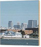 Buildings At The Waterfront, San Wood Print