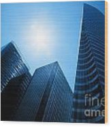 Business Skyscrapers Wood Print
