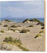 Caleta De Famara Beach On Lanzarote Wood Print