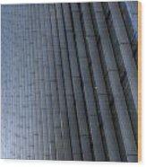 Canary Wharf Abstract Wood Print