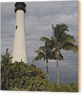 Cape Florida Lighthouse Wood Print