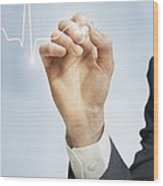 Cardiology, Conceptual Image Wood Print