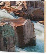 Castor River Wood Print