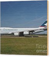 Cathay Pacific Boeing 747 Wood Print