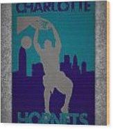 Charlotte Hornets Wood Print