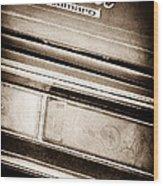 Chevrolet Camaro Taillight Emblem Wood Print