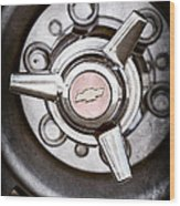 Chevrolet Wheel Emblem Wood Print
