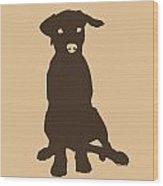 Chocolate Labrador Wood Print