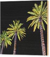 4 Christmas Palms Wood Print