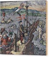 Christopher Columbus (1451-1506) Wood Print