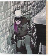 Clayton Moore In The Lone Ranger Wood Print