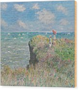 Cliff Walk At Pourville Wood Print