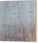 Close-up Of A Metal Wall Surface Wood Print