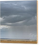 Clouds Over Maasai Mara, Kenya Wood Print