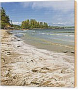Coast Of Pacific Ocean On Vancouver Island Wood Print