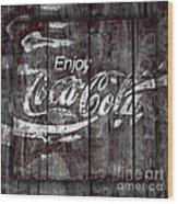 Coca Cola Sign Wood Print