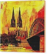 Cologne Wood Print