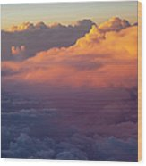 Colorful Clouds Wood Print by Brian Jannsen