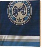 Columbus Blue Jackets Uniform Wood Print