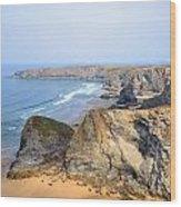 Cornwall - Bedruthan Steps Wood Print