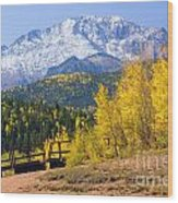 Crystal Lake On Pikes Peak Wood Print