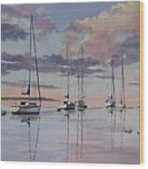 Cuttyhunk Harbor Wood Print by Karol Wyckoff