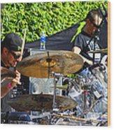 Dave Lombardo And Pancho Tomaselli Wood Print